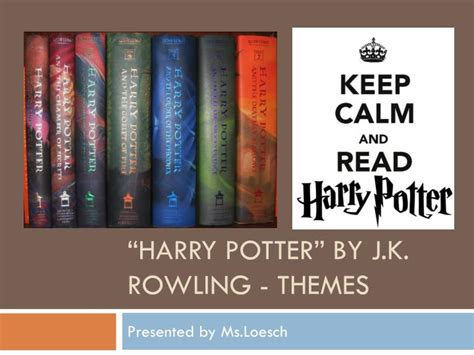 j k rowling on harry potter ppt harry potter by j k rowling themes powerpoint