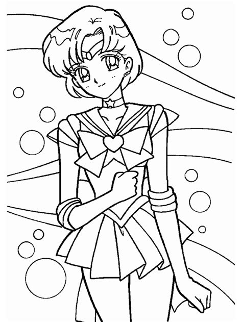 Sailor Mini Moon Coloring Pages Coloring Home Sailor Mercury Coloring Pages