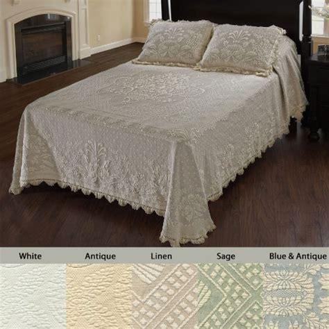 matelassé coverlet abigail adams matelasse bedspread queen linen new