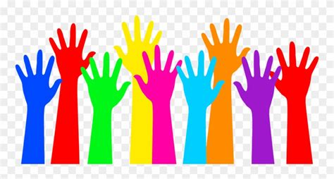 hands colorful colorful hands clipart png