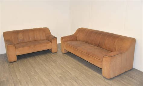 matching sofa and loveseat matching pair of vintage de sede ds 44 sofa and loveseat