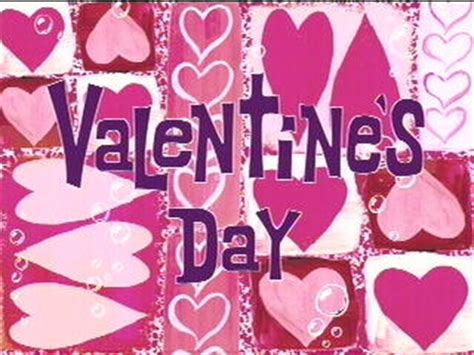 valentines day spongebob s day spongebob squarepants