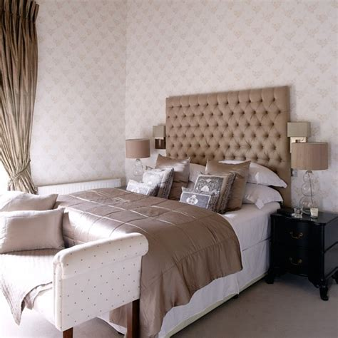 Oversized Headboard Glamorous Hotel Style Bedroom With Oversized Headboard