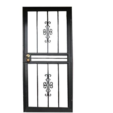 grisham 36 in x 80 in 808 series black protector security door 80821 the home depot