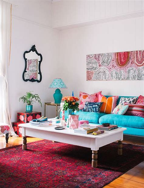 pink and teal living room adore brisbane magazine turquoise teal sofa pink and orange accents how colorful this