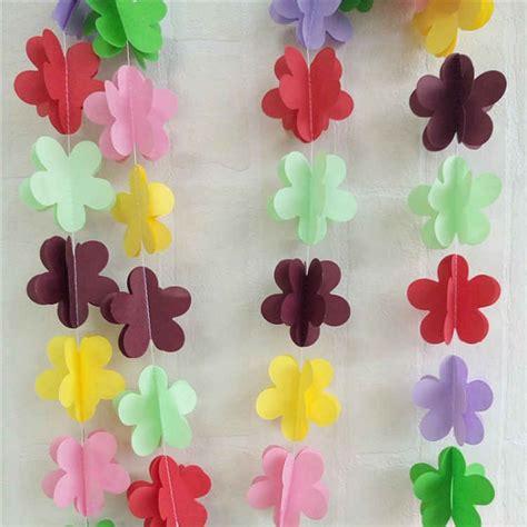 cadenas de flores de papel crepe guirnaldas originales para decorar fiestas