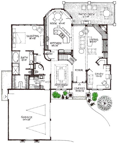 energy efficient house plan 16615gr 1st floor master