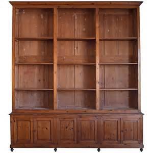 Lockable Bookshelves Italian Circa 1870 Large Bookcase In Chestnut Open