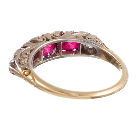 antique ruby and carved ring