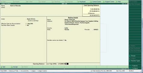 bank leder create bank account ledger in tally erp 9 bank od bankocc
