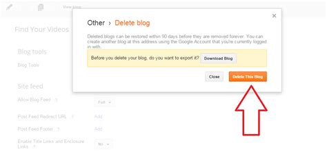 blogger delete blog how to delete a blogger blog