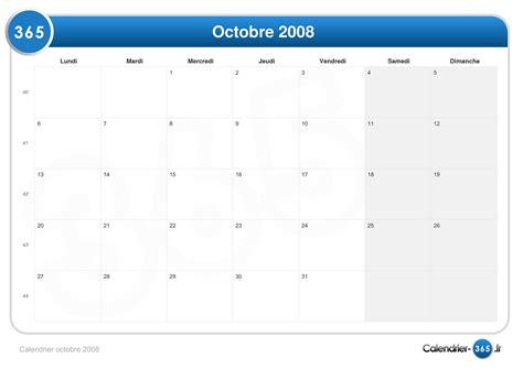 calendrier octobre 2008