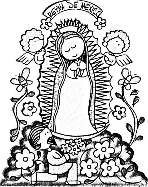 la virgen de guadalupe coloring pages virgen de guadalupe