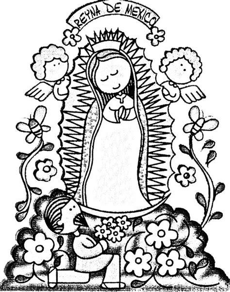 La Virgen De Guadalupe Coloring Pages Virgen De Guadalupe