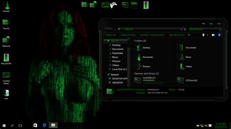 themes for windows 7 matrix matrix skin pack skinpack customize your digital world