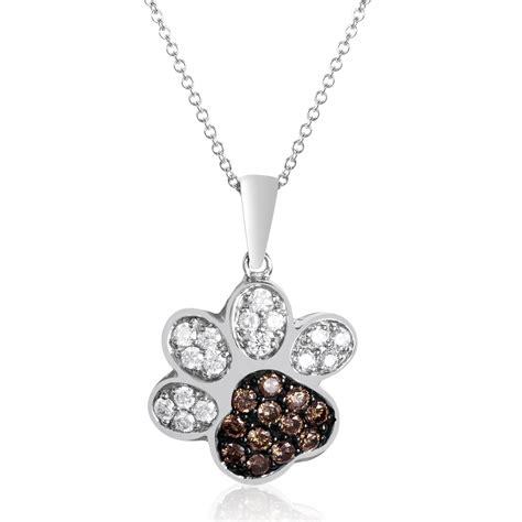 paw necklace le vian chocolatier paw print pendant necklace le vian corp