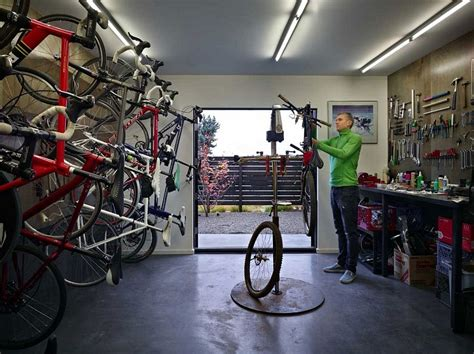 bike workshop ideas contemporary cycle house by chadbourne doss architects