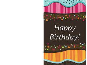 Foldable Birthday Card Template Gallery For Gt Birthday Card Template
