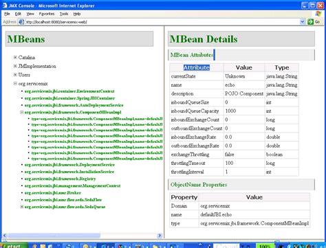 jmx console apache servicemix the agile open source esb jmx console