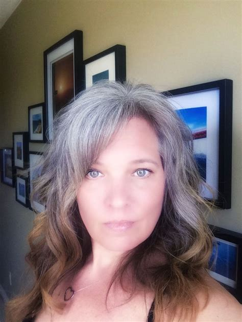 hairstyles while growing out grey 1473 best hairstyles going grey gray images on pinterest