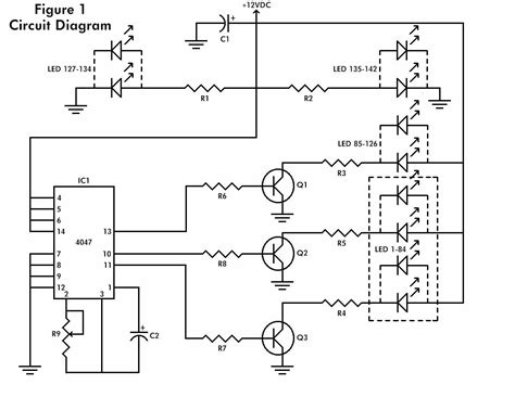 blinking light circuit diagram led schematic design