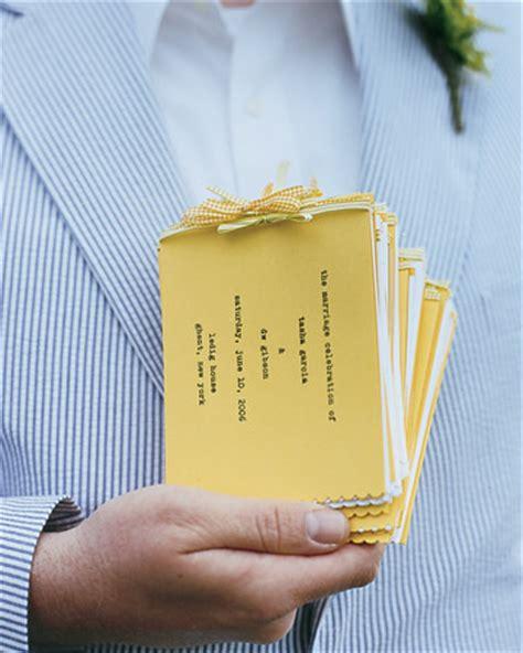 unique wedding program ideas diy 25 diy wedding programs
