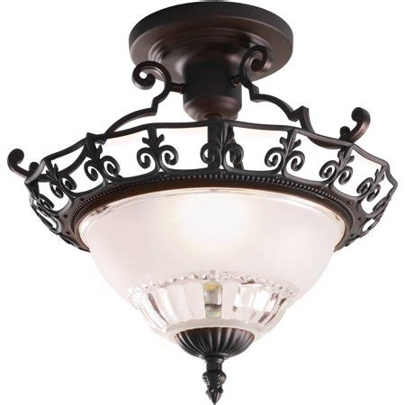 walmart ceiling light fixtures chapter indoor 11 25 quot ceiling semi flush mount rubbed
