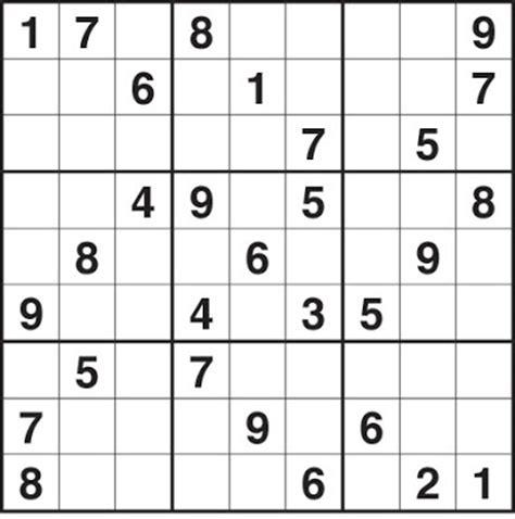 printable intermediate sudoku puzzles printable sudoku