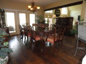 rustic casual piece dining table