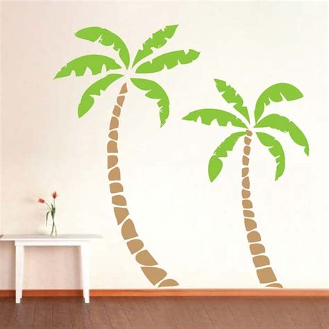 palm tree wall stickers palm trees wall decal trendy wall designs