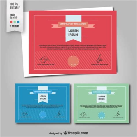 cool certificate templates 10 sets of free certificate design templates designfreebies