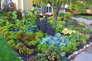 Flower Garden Layout 38 Homes That Turned Their Front Lawns Into Beautiful Vegetable Gardens