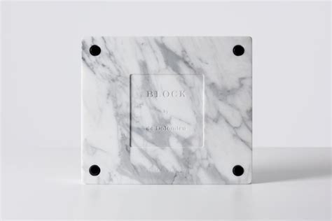 design milk gregory han de dolomieu block statuario marble macbook stands design