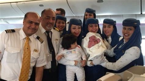 Saudi Airlines Cabin Crew by Saudi Arabian Airline Cabin Crew Deliver A Baby In Flight