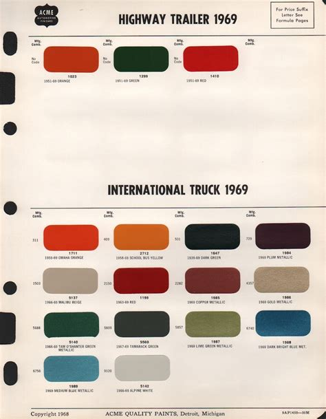 international exterior paint paint chips 1969 international truck commercial
