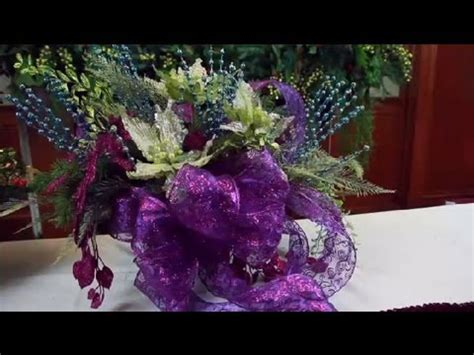 Christmas Centerpieces Pictures - how to make a christmas centerpiece with bows decorating for christmas youtube