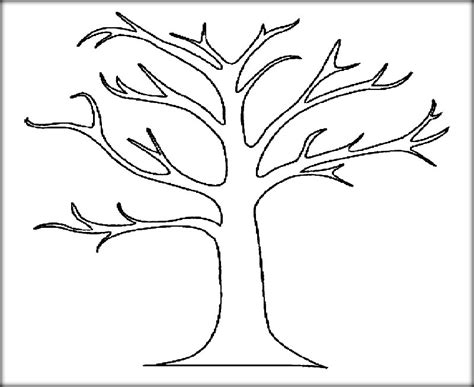 printable tree download tree leaves coloring pages for kids adult
