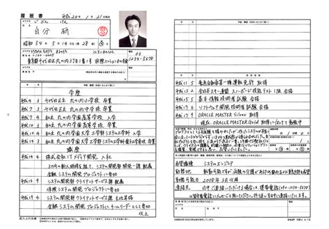 Resume Template In Japanese 履歴書 Curriculum Vitae Japaneseclass Jp