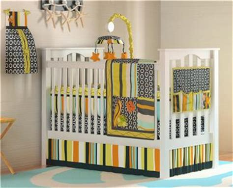 Surfboard Crib Bedding 10pc Surf Nursery Discount Crib Bedding Set Unique Orange Blue Pear Yellow