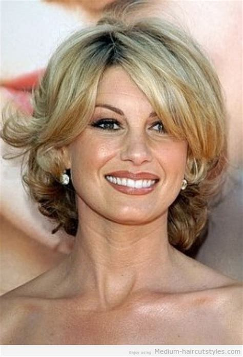 medium length haircuts for women over 50 with straight hair trendy hairstyles for women over 50