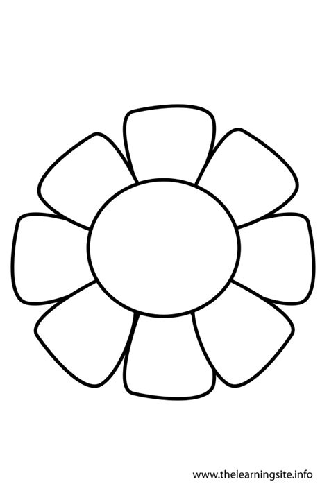 best photos of flower outlines for coloring flower