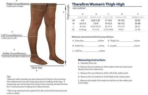 Circumference Length Measuring Band therafirm sheer s thigh highs with lace silicone top