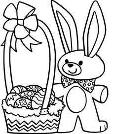 Free Coloring Pages Easter Basket L L L L