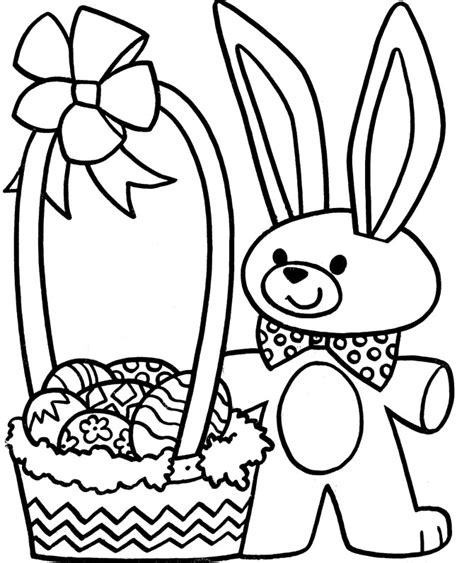 coloring pages easter eggs basket easter egg basket coloring pages valla