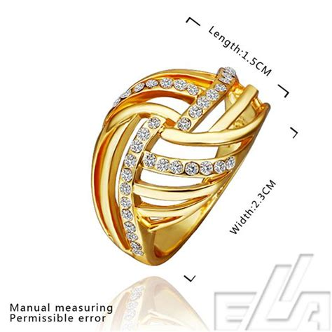 best quality jewellery 18k real gold plated ring promise
