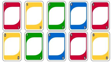printable uno card template i removed the numbers from center to make a place for