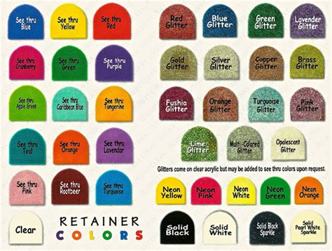 retainer colors my retainer harris orthodontic laboratory