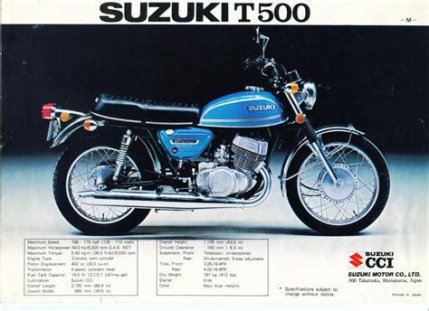 Vintage Suzuki Parts Pin Suzuki Gt 500 On