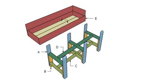 waist high raised garden bed plans planter box plans insteading