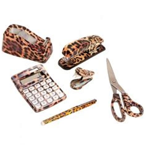 Leopard Desk Accessories Decorate Your Desk With Ridiculously Office Knick Knacks Print And Offices